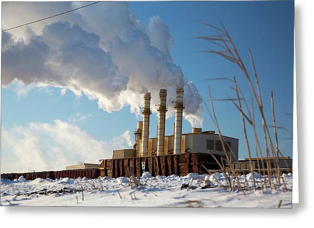 Industrial Power Station Greeting Card