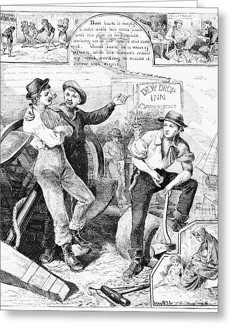 Industry And Idleness, 1876 Greeting Card by Granger