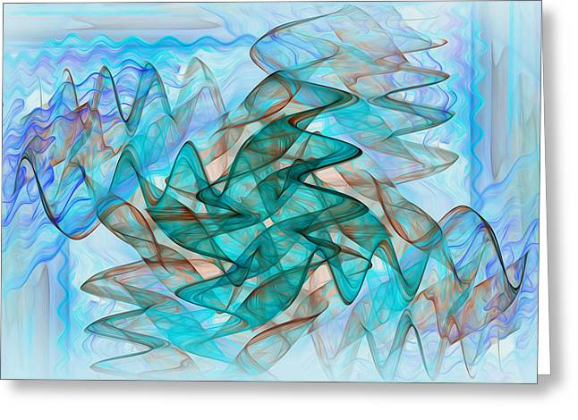 Infrasonic Greeting Card by Tracy Mewmaw