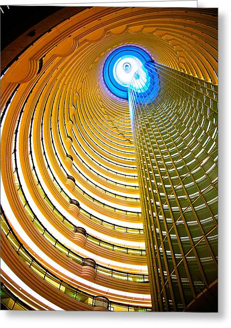Interiors Of Jin Mao Tower Looking Greeting Card