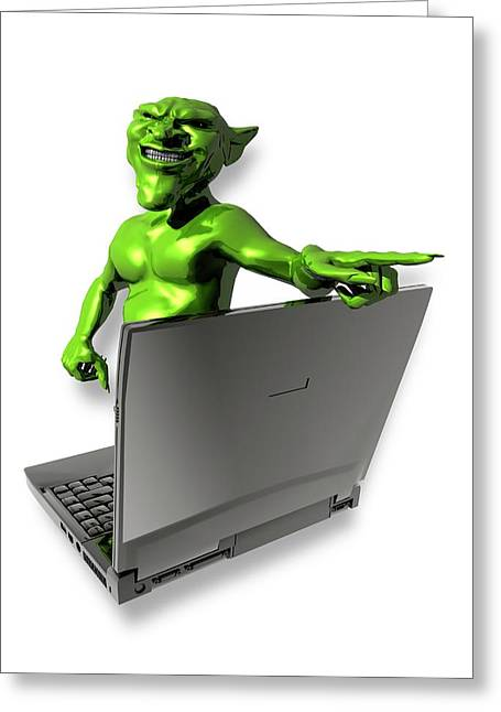 Internet Troll Greeting Card by Victor Habbick Visions
