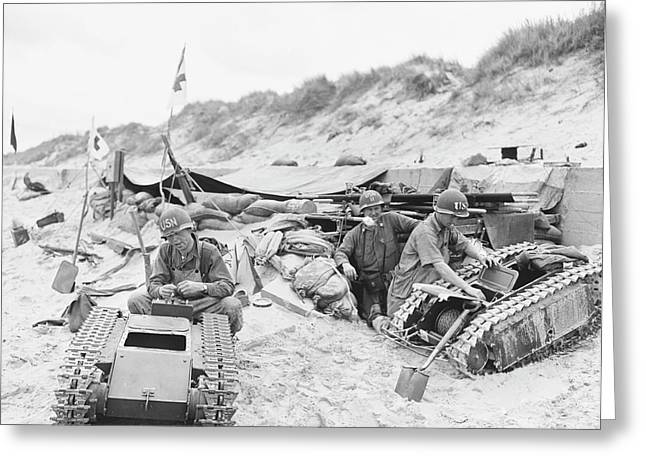 Invasion Of Normandy Greeting Card