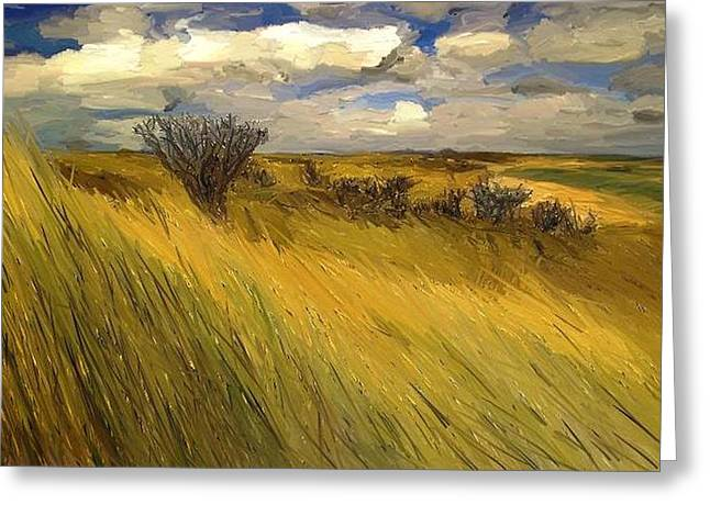 Iowa Prairie Grasses  Greeting Card