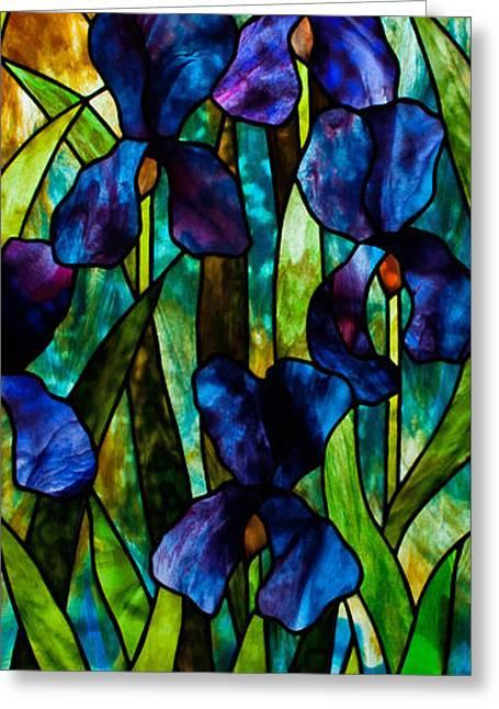 Iris Greeting Card by David Kennedy