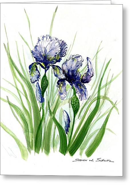 Iris I Greeting Card by Steven Schultz