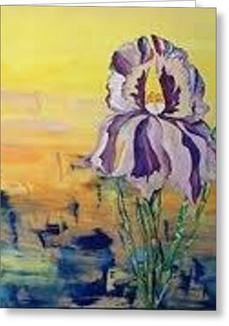 Iris Greeting Card by Karen Carnow