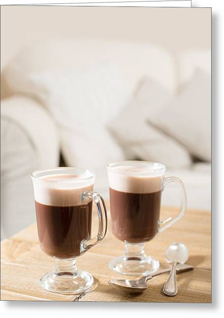 Irish Coffee Greeting Card by Amanda Elwell
