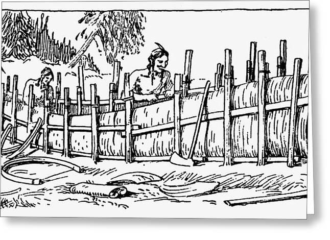 Iroquois Birchbark Canoe Greeting Card by Granger