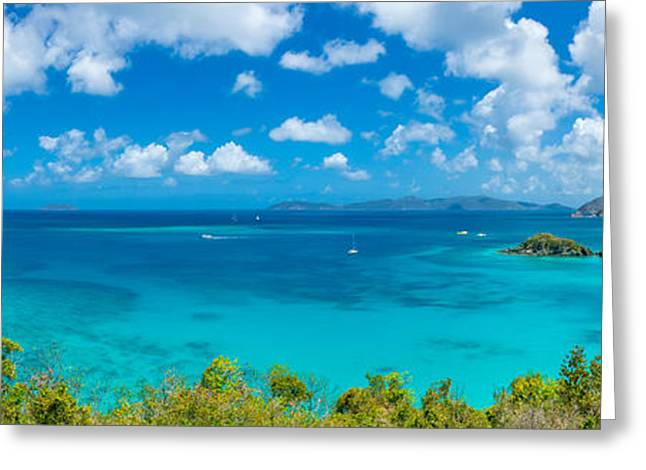 Islands In The Sea, Trunk Bay, Virgin Greeting Card by Panoramic Images