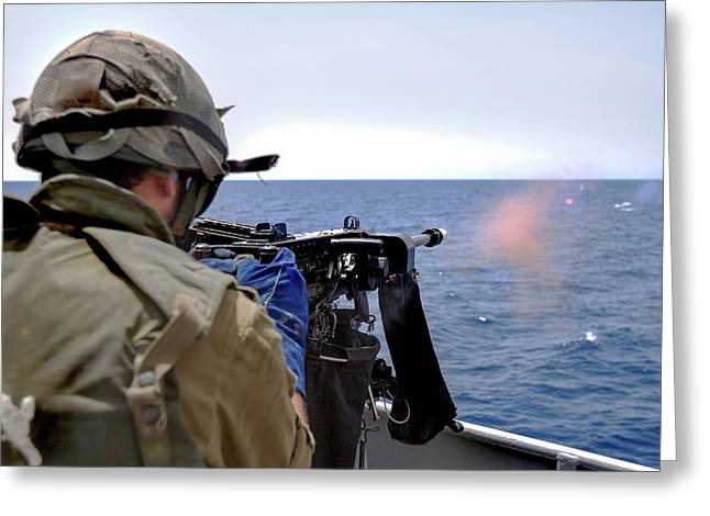 Israeli Navy Missile Boat Greeting Card by Photostock-israel