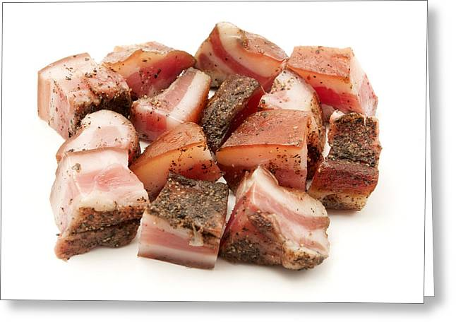 Italian Guanciale Greeting Card by Fabrizio Troiani