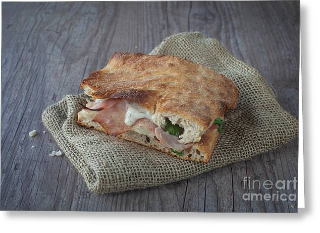Italian Sandwich Greeting Card by Sabino Parente