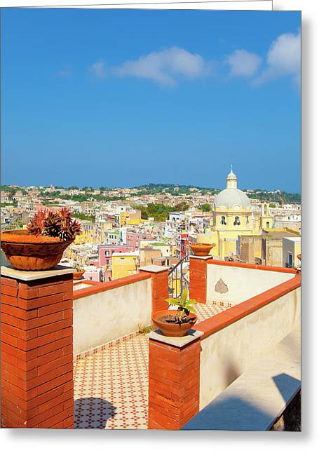 Italy, Gulf Of Naples, Procida Island - Greeting Card by Panoramic Images