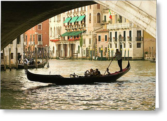 Italy, Venice Tourist Take Snap Shots Greeting Card