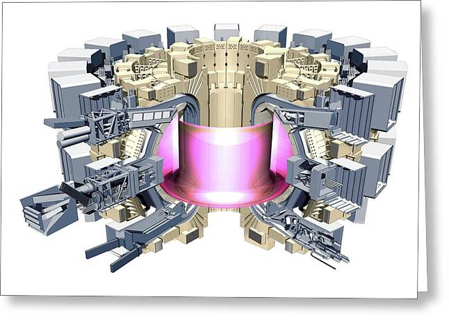 Iter Fusion Research Reactor Greeting Card