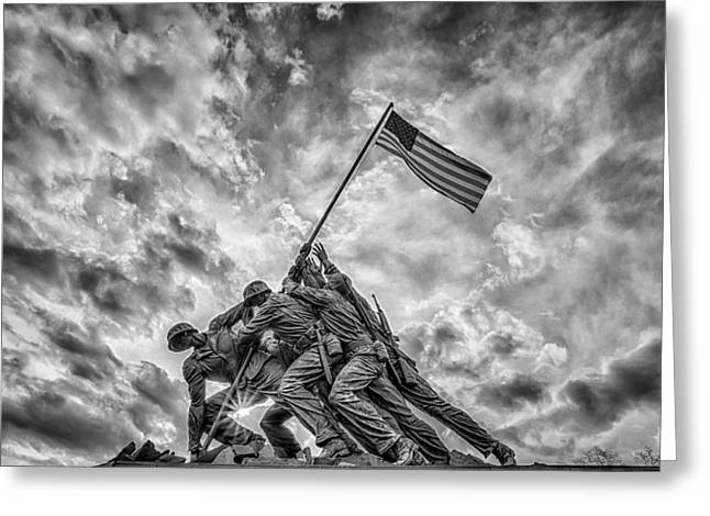Iwo Jima Memorial Greeting Card by Susan Candelario