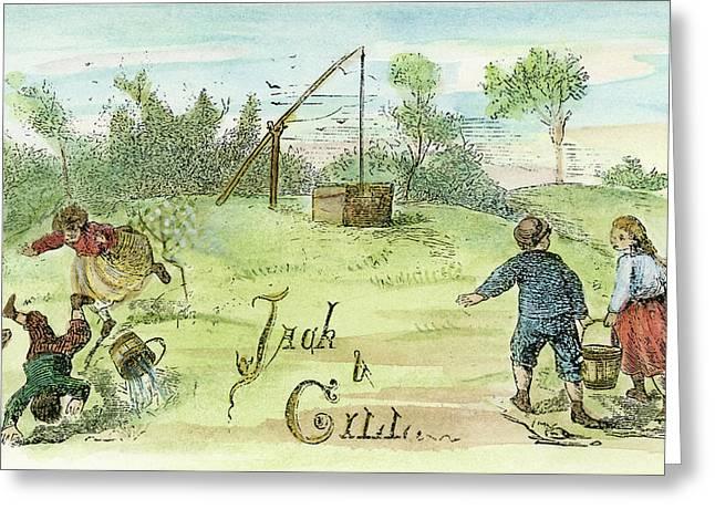 Jack & Jill, 1873 Greeting Card by Granger