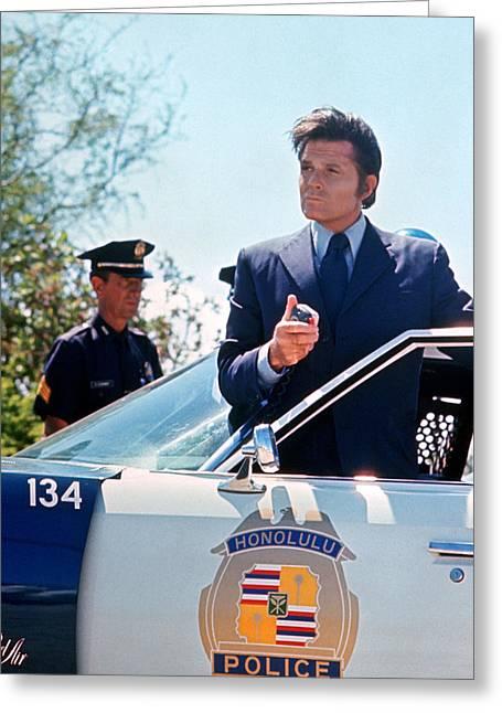 Jack Lord In Hawaii Five-o  Greeting Card