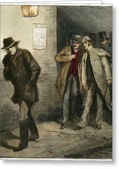 Jack The Ripper Greeting Card by Granger
