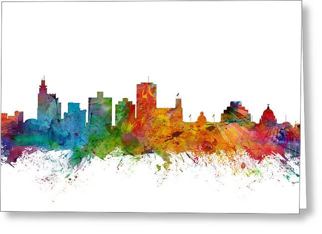 Jackson Mississippi Skyline Greeting Card