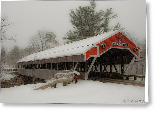 Jackson Nh Covered Bridge Greeting Card