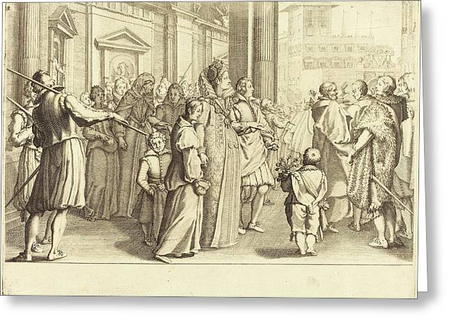 Jacques Callot French, 1592 - 1635, Grand Duchess Greeting Card by Quint Lox