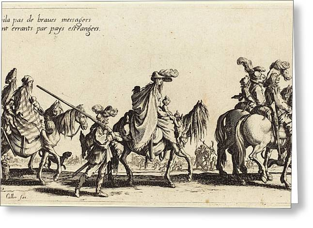 Jacques Callot French, 1592 - 1635, The Bohemians Marching Greeting Card by Quint Lox