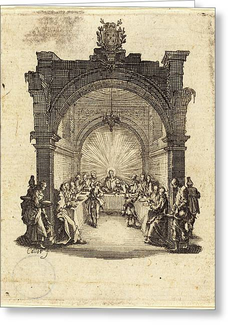 Jacques Callot French, 1592 - 1635, The Last Supper Greeting Card by Quint Lox