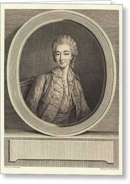 Jacques-firmin Beauvarlet After François-hubert Drouais Greeting Card