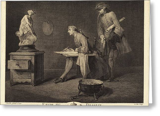 Jacques-philippe Le Bas After Jean Siméon Chardin French Greeting Card by Quint Lox