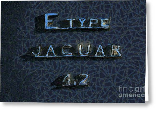 Jaguar E Type 4.2 Logo Greeting Card