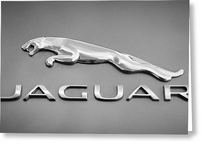 Jaguar F Type Emblem Greeting Card