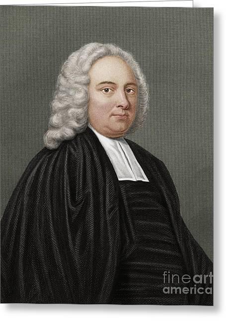 James Bradley, British Astronomer Greeting Card by Maria Platt-Evans