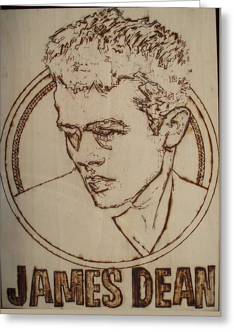 James Dean Greeting Card by Sean Connolly