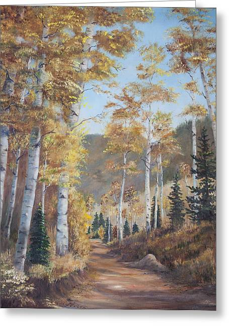Cathedral Of The Aspens Greeting Card by Frances Lewis