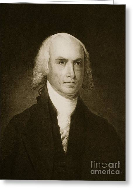 James Madison Greeting Card by American School