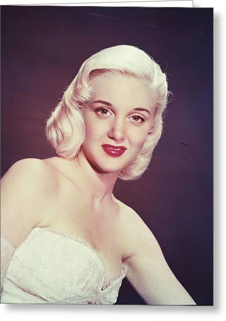 Jan Sterling Greeting Card by Silver Screen