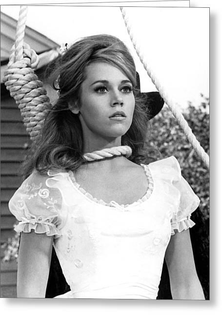 Jane Fonda In Cat Ballou  Greeting Card by Silver Screen