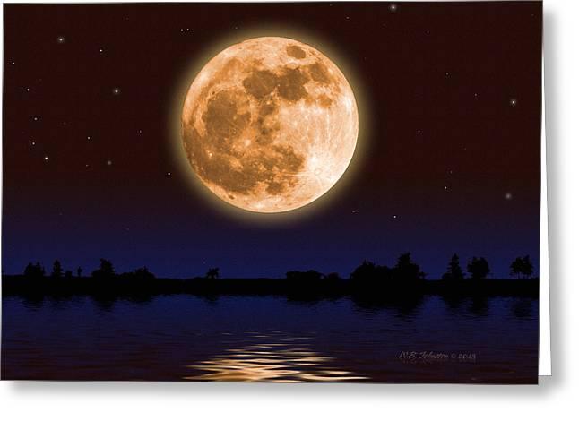January Moon Greeting Card