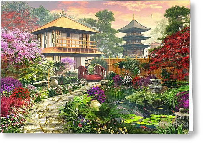 Japan Garden Greeting Card