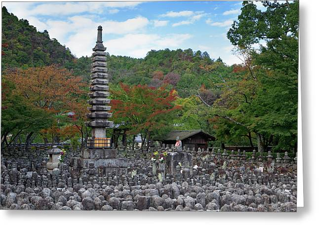 Japan, Kyoto Thousands Of Buddhist Greeting Card by Jaynes Gallery