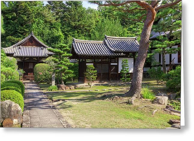 Japan, Nara Grounds Of The Shingon-in Greeting Card