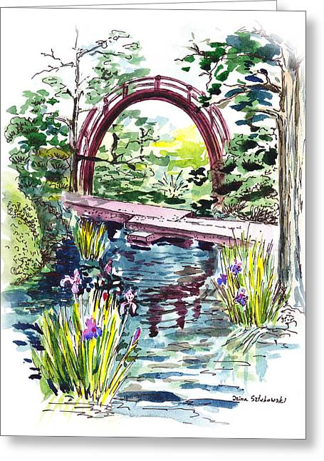Japanese Tea Garden San Francisco Greeting Card by Irina Sztukowski