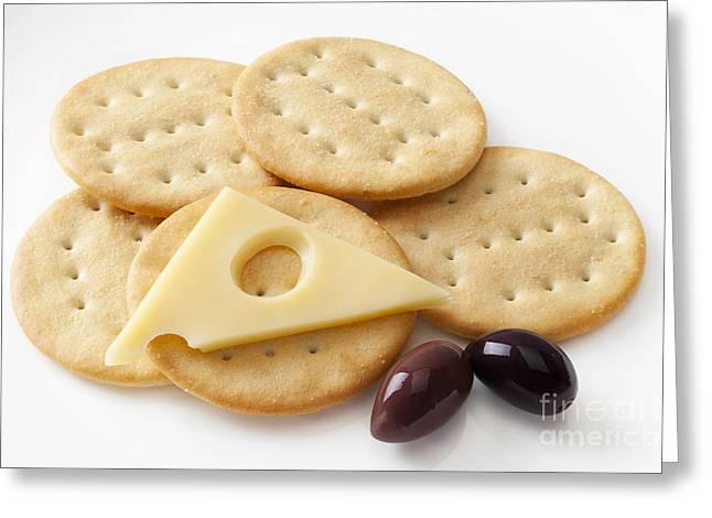 Jarlsberg Cheese And Crackers Greeting Card