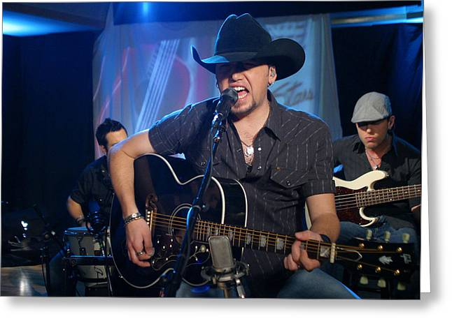 Jason Aldean Greeting Card by Don Olea