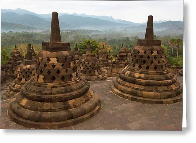 Java, Indonesia Sunrise Greeting Card