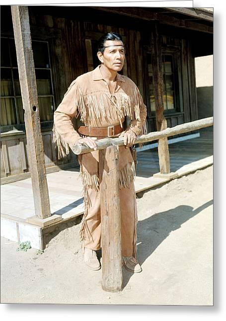 Jay Silverheels In The Lone Ranger  Greeting Card