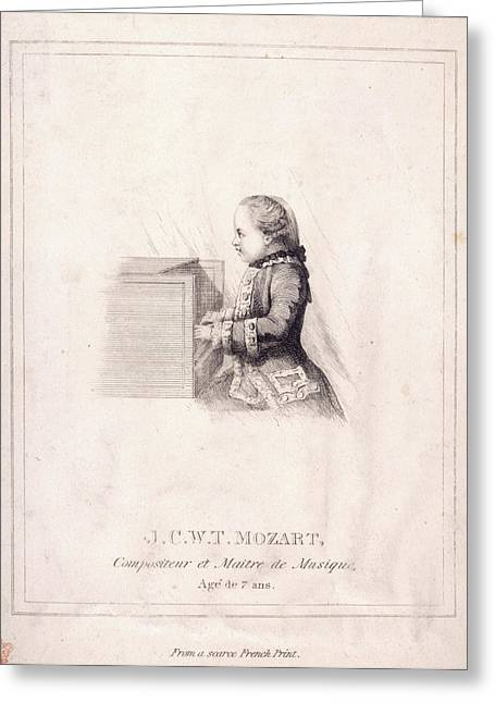 J.c.w.t. Mozart Greeting Card