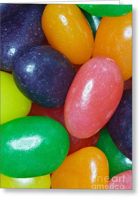 Jelly Beans Greeting Card by Photo Researchers, Inc.