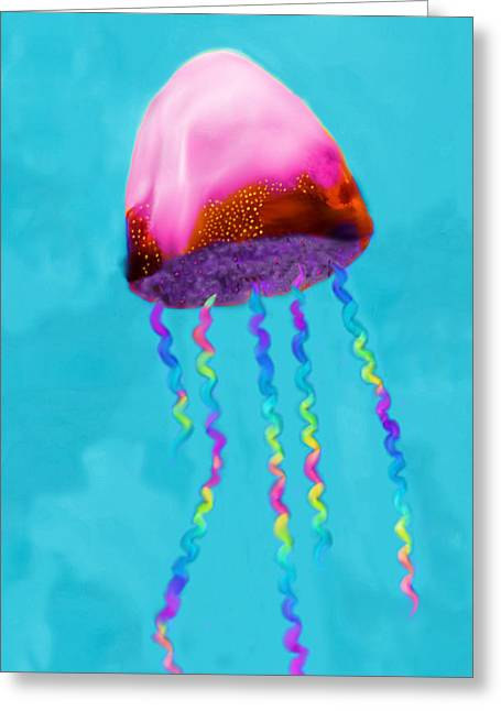 Jelly The Fish Greeting Card